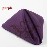 Wholesale Purple Polyester Napkins - Nice Looking Purple Color Poly Napkin For Wedding Decoration 48cm*48cm Good Quality