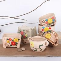 macetas de cermica lindo plantadores jarrones decorativos olla de cermica de decoracin del hogar adornos