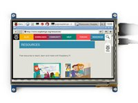 Wholesale 7inch Lcd Display - Wholesale-7inch 800x480 Rev.2.1 HDMI Touch Screen LCD Capacitive Display Support Raspberry Pi A+ B+ 2 B 3 B Banana Pi Pro BeagleBone Black