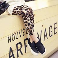 Wholesale Lolita Long - Baby girls leopard leggings All-match long pants 2016 new arrival autumn fashion personality girls children kids leggings pants