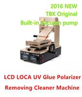 máquina removedor de pegamento al por mayor-TBK-318 2016 Últimas 3 en 1 Pantalla Táctil LCD LOCA OCA Película de Polarizador UV Removedor de la Máquina Separador de Degumming Clean Clean Bomba de Vacío