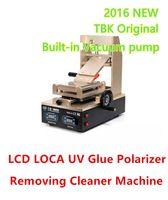 lcd ekranı oluştur toptan satış-TBK-318 2016 Son 3 1 LCD Dokunmatik Ekran LOCA OCA UV Tutkal Polarize Filmi Degumming Ayırıcı Makinesi Sökücü Temiz Vakum Pompası Dahili