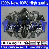 Wholesale Abs Hayabusa Fairings Kit Blue - Body Bodywork For SUZUKI Hayabusa GSXR1300 96 07 GSX R1300 15XH91 GSXR-1300 GSXR 1300 Blue flames 1996 1997 1998 1999 2000 2001 Fairing kit