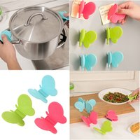 Wholesale Adorable Butterfly Shaped Silicone Anti Scald Device Kitchen Tool Gadget Random