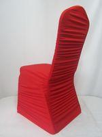 Wholesale Blue Spandex Chair Covers - 100 pcs Red Spandex Wedding Chair Covers for Weddings Pleats Hotel Decoration Decor Hot Sale Wedding Supplies