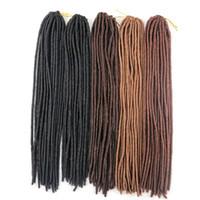 Wholesale Crochet Braided Hair - Faux Locs Crochet braiding hair pieces kanekalon Synthetic braid twist hair 20inch 100g single color hair extensions