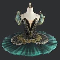 erwachsene schwan kostüm großhandel-Erwachsener schwarzer Schwan-klassisches Ballett-Ballettröckchen-Kostüm-rotes Berufsballett-Ballettröckchen-Schwarz-Ballett-Ballettröckchen für Leistung LD8941