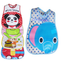 Wholesale Disposables Bibs - Super soft foam sandwich stereo waterproof disposable eating take environmental protection EVA baby bibs 30 p l