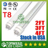 tubo led de 4 pies al por mayor-Stock en EE. UU. UL 1.2 m 2 pies 3 pies 4 pies T8 18 W 20 W 22 W LED Tube Light 2400lm 110-240V Iluminación LED Lámpara de tubo fluorescente