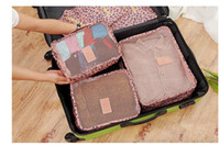 Wholesale Six Piece Bedding Sets - Travel bag. Six piece suit. Travel package. Clothes storage box. Daily necessities finishing bag. Household storage bag. Travel storage.