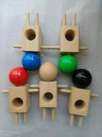 ingrosso kendama caldo giocattolo-50PC hot Nuovo prodotto in legno di faggio kendama giocattolo kendama bambola Kendama giocattolo di legno del gioco DHL libero