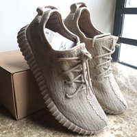 Wholesale womans sports - 2016 Best Sports Shoes Moon Rock Oxford Tan 350 Boost Kanye West 350 Low Turtle Dove Mens womans running Shoes Grey