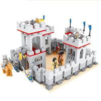 Wholesale Models Toys Hobbies - AUSINI Model building kits city castle 686 pcs 3D blocks model building toys hobbies for children DIY bricks educational toys