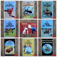 "Wholesale Aluminum Paints - NEW 2016 ""The Adventures of Tintin"" Tin metal Signs Vintage House Cafe Restaurant Poster Painting 20x30 cm wall pictures"