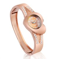 Wholesale Irregular Bangle - A2 Fashion women quartz watches Newest New hot sell rose gold ladies Bangle Watch popular designer rhinestone watch relogio feminino