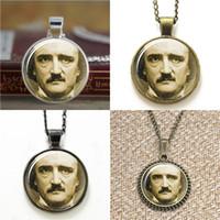 Wholesale goth pendants for sale - Group buy 10pcs Edgar Allan Poe goth Pendant Necklace keyring bookmark cufflink earring bracelet