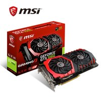 Wholesale Red Eat - MSI MSI GTX 1060 GAMING X 6G GDDR5 192BIT PCI-E 3.0 flagship red dragon eating chicken graphics