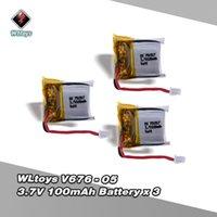 Wholesale Lipo Batteries For Rc Planes - WLtoys V646 RC Part 3.7V 100mAh Lipo Battery V646-05 for WLtoys V646 V676 Hubsan H111 Cheerson CX-10 CX-10A JJRC H1 H7 RC Plane