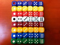 Wholesale Color Sided Dice mm Big Size Dices D6 Party Drinking Game Toy Funny Acrylic Boson Good Price High Quality R6