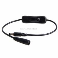 extensão do cabo de alimentação venda por atacado-Atacado-DC Plug Power 5.5x2.1mm macho para cabo de extensão fêmea com interruptor On / Off -R179 Drop Shipping