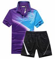 Wholesale Competitive Sports - Quick Dry Badminton Tops Breathable High-end Competitive Level Men Women T-Shirts Sports Suit Quality,Badminton Team Jersey Purple M-4xl
