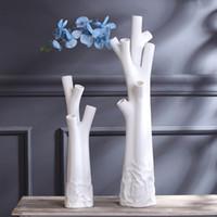 jarrn de vajilla de moda creativa jarrn de la casa de muebles de porcelana blanca artesana de piso jarrn tipo moderno fbrica de venta al por mayor