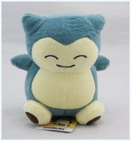 "Wholesale Wholesale Stuffed Animals Pikachu - Free Shipping Poke Pocket Monsters Snorlax 6"" 15cm Plush Doll Stuffed Toy Pikachu Animals For Baby Gifts"
