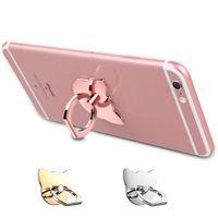 toque para celular venda por atacado-Titular anel de telefone celular com suporte quadrado gato para iphone 7 plus 6 6 s 5 5c 5s, samsung galaxy s8 s7