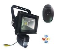 Wholesale Pir Mp - Wifi PIR Floodlight 720P HD PIR Camera & Recorder with WIFI Module & PIR Floodlight & Motion Sensor Good Quality