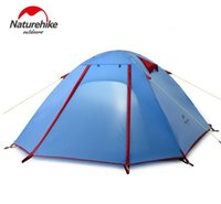 Wholesale Outdoor Tent Camping Persons - New Arrived 4 season 210*160*115 cm Double Layer 3-4 Person Outdoor Camping Hike Travel Tent