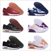 Wholesale Womens Black Tennis Shoes - Brand Hight Quality Mens Womens Classic 90 Running Shoes 2017 New Mens Womens Trainers Sneakers Man Walking Air Sports tennis Shoes