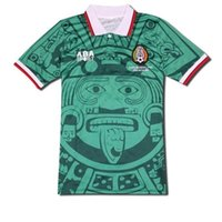 Wholesale Thailand Wholesale Football Jersey - free shipping by DHL Thailand Quality Retro Version 1998 Mexico World Cup Classic Vintage Mexico retro jersey HERNANDEZ football shirt