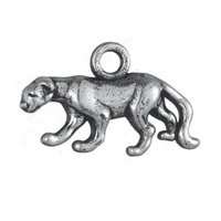 Wholesale Wholesale Cheetah Jewelry - 30Pcs Double-side Alloy Antique Silver Cheetah Animal Charm Jewelry
