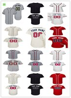 Wholesale Day Mother - Custom 2017 Atlanta Jersey Men Women Youth Cool Base Flexbase Home Memorial Day Mother Day Baseball jersey size S-5XL