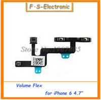 """Wholesale Locking Control Cable - 10 pcs lot New Volume Control Button Mute Lock Switch Ribbon Cable Flex Connector Repair Part for iPhone 6 4.7"""" 6 Plus 5.5"""" inch"""
