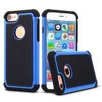 Wholesale Iphone Hard Matte Rubber - For iphone7 7plus Hybrid Case Rugged Impact Rubber Matte Shockproof Heavy Hard Case for iphone 6 Plus 5 6s 4.7inch