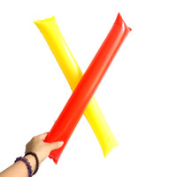 Wholesale Inflatable Clapper Sticks - free ship 60cm clapper ballon beach Inflatable Sticks cheerleading sports game up stick party concert fan stick cheering inflatable stick