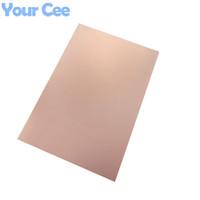 Wholesale Fr4 Copper Clad - Wholesale-Epoxy Fiber FR4 Copper Clad Plate Laminate Circuit Board Double Side PCB 75 x 100 x 1.5mm 10X7.5cm DIY 2016 New