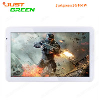 Wholesale Tablet Pc 1366x768 - Factory Price JUSTGREEN JG106W Android 5.0 Tablet PC 10.6 inch 1366x768 Allwinner A33 Quad Core 1GB RAM 16GB ROM 2MP Camera