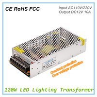 Wholesale 12vdc Switch - Universal AC110V 220V Input to 12VDC LED Switching Power Supply 120W 10A Single Ouput Power Supply Transformers with Constant Crrent