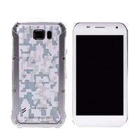 Wholesale Wcdma China Phones - 5 Inch 3G Smartphone Tank S6 Active MTK6580 Quad Core 512M 8G 2000mAh Android 5.1 Waterproof china phone