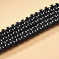 Wholesale Whosale Metal - 2-10mm Whosale Gemstone Round Matte Black Agate onyx Loose Beads 16'' per strand