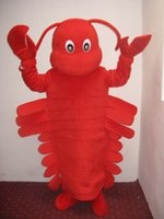 Wholesale Lobster Costume Adult - Red lobster mascot costume Adult Size free shipping
