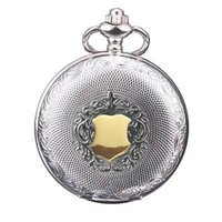 Wholesale American Pocket Watch - European and American classic style white golden retro vintage pocket watch quartz pocket watch men and women jewelry gift watches