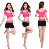 Wholesale Thin Swim Suit - Nine dance yoga clothes suit female spring and summer modal Slim was thin Dance Workout clothes and jogging suits 9 colors optional