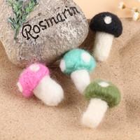 Wholesale Headbands For Dolls - Free shipping cartoon cute dots mushroom wool felt doll patch for diy keyring garment hair jewelry bag decoration Handmade