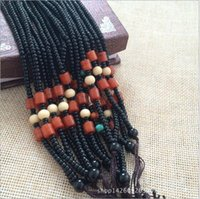 Productos de venta caliente! Mix Color 100 PCS / lot Black Agate Beads Collar de ágata DIY cable tejido artesanal colgante de alambre