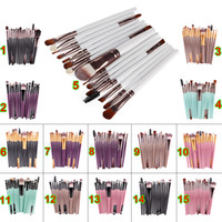 Wholesale Cheapest Makeup Brush Set - Cheapest 15pcs Cosmetic Makeup Brushes Sets Powder Foundation Eyeshadow Brush Kits Make Up Brushes Professional Makeup Beauty Tools On Sale