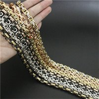 Wholesale Wholesale Jean Chains - Wholesale-22 inch 8mm 6mm 4mm Cool Man 7 colors Necklace Jean Chain 316L Stainless Steel Fashion Polishing Golden Biker Style Necklace