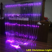 Wholesale led waterfall curtain lights - WIDE 3m xHIGH 6m Christmas Wedding Party Background Holiday Running Water Waterfall Water Flow Curtain LED Light String